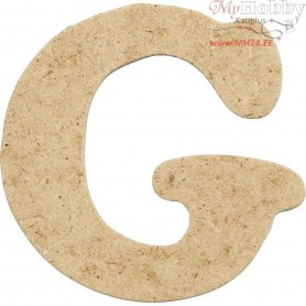 Letter, G, H: 4 cm, thickness 2,5 mm, MDF, 10pcs