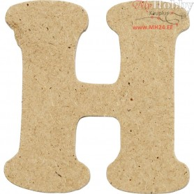Letter, H, H: 4 cm, thickness 2,5 mm, MDF, 10pcs