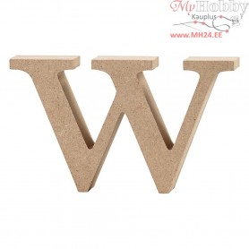Letter, w, H: 8 cm, thickness 2 cm, MDF, 1pc