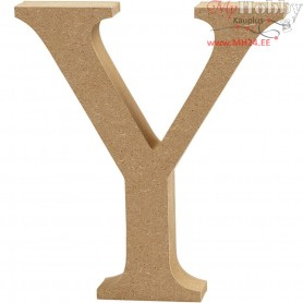 Letter, Y, H: 13 cm, thickness 2 cm, MDF, 1pc