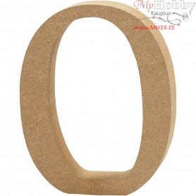 Number, 0, H: 13 cm, thickness 2 cm, MDF, 1pc