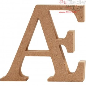 Letter, Ɔ, H: 13 cm, thickness 2 cm, MDF, 1pc
