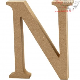 Letter, N, H: 13 cm, thickness 2 cm, MDF, 1pc