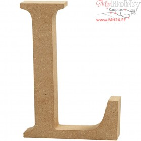 Letter, L, H: 13 cm, thickness 2 cm, MDF, 1pc