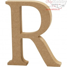 Letter, R, H: 13 cm, thickness 2 cm, MDF, 1pc