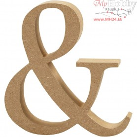 Symbol, &, H: 13 cm, thickness 2 cm, MDF, 1pc