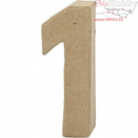 Number, 1, H: 10 cm, thickness 1.7 cm, 1pc, W: 3.5 cm