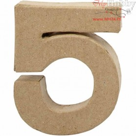 Number, 5, H: 10 cm, thickness 1.7 cm, 1pc, W: 8.5 cm