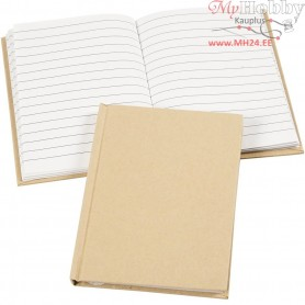 Notebook, A6 10.5x15 cm, brown, 1pc