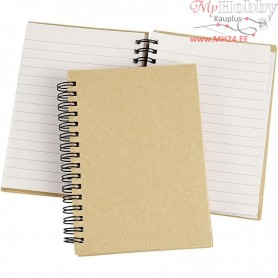 Spiral Bound Notebook, A6 10.5x15 cm, brown, 1pc