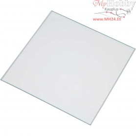 Glass Plate, size 15.5x15.5 cm, thickness 2.8 mm, 20pcs
