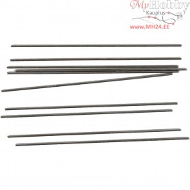 Metal Bar, D: 2 mm, L: 15 cm, 10pcs