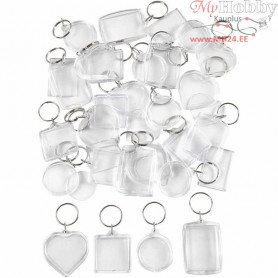Key Rings, size 40-50 mm, 100pcs