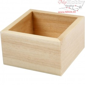 Compartments, outer size 7x7x4 cm, inner size 5.8x5.8x3.5 cm, poplar wood, 1pc