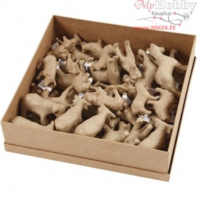 Farm Animals, H: 5-10.5 cm, L: 9-12 cm, 32pcs