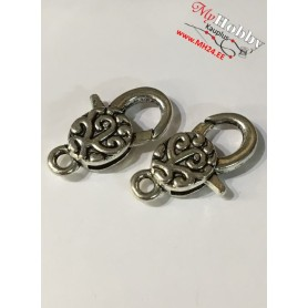 Lobster Claw, size: 30x16mm, antique silver, 5pcs