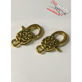 Lobster Claw, size: 30x16 mm, antique gold, 5 pcs.