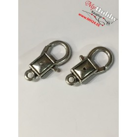 Lobster Claw, size: 27x14mm, antique silver, 5pcs