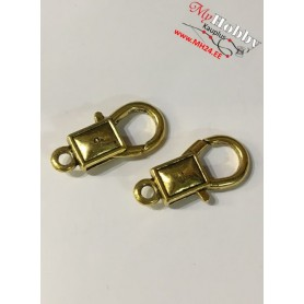 Lobster Claw, size: 27x14mm, antique gold, 5 pcs.