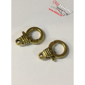 Lobster Claw, size: 18,5x11,5mm, antique gold, 5 pcs.