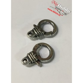 Lobster Claw, size: 18,5x11,5mm, antique silver, 5pcs