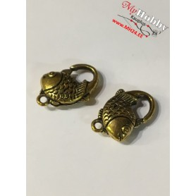 Lobster Claw, size: 20x12mm, antique gold, 5 pcs.