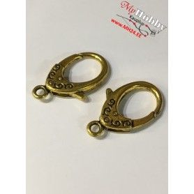 Lobster Claw, size: 31x18,5mm, antique gold, 5 pcs.