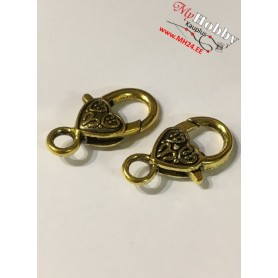 Lobster Claw, size: 26x14mm, antique gold, 5 pcs.