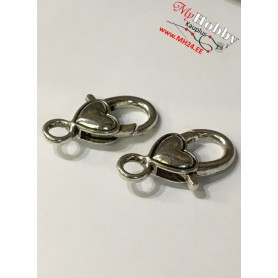 Lobster Claw, size: 27x15mm, antique silver, 5pcs