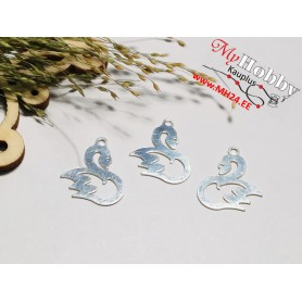 "Pendant ""Swan"", 925 silver, dimensions: 17x12mm, 1pc"