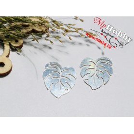 "Pendant ""Leaf"", 925 Sterling Silver, dimensions: 18x15mm, 1pc"