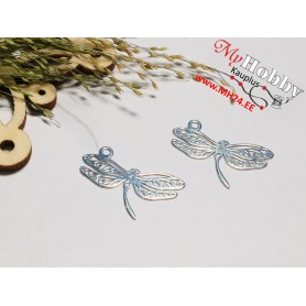 "Pendant ""Dragonfly"", 925 sterling silver, dimensions: 21x11mm, 1pc."