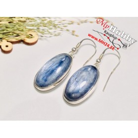 "Earrings with Kyanite, ""Blue Kyanite"", 925 Sterling Silver"