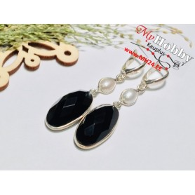 "Earrings ""Onyx"" 925 sterling silver"