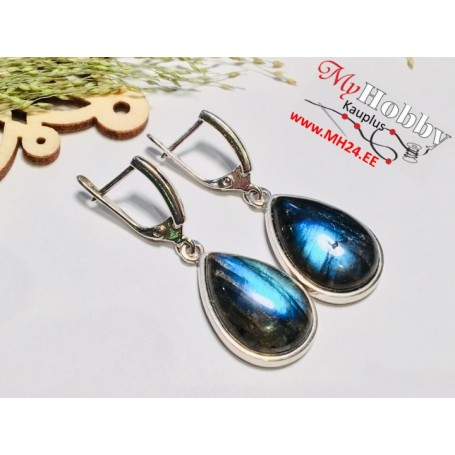 "Earrings ""Labradorite"" with 925 sterling silver rhodium"