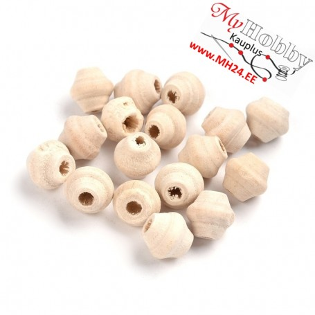 Wooden beads, dimensions: 10x9mm, hole dimensions: 3mm, 94pcs / pack