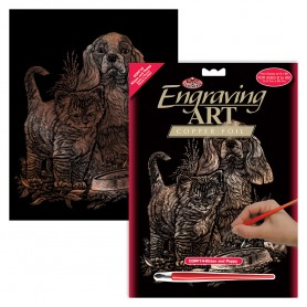Kitten & Puppy Engraving Art Kit Standard - Royal Brush - Copper Foil 20.3x25.4cm (COPF14)