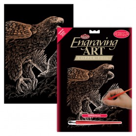 Hawks Engraving Art Kit Standard - Royal Brush - Copper Foil 20.3x25.4cm (COPF20)