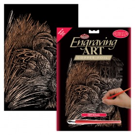 Ducks Engraving Art Kit Standard - Royal Brush - Copper Foil 20.3x25.4cm (COPF19)