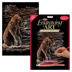 Grizzly Bears Engraving Art Kit Standard - Royal Brush - Copper Foil 20.3x25.4cm (COPF21)