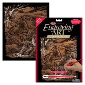 Horse Trio Engraving Art Kit Standard - Royal Brush - Copper Foil 20.3x25.4cm (COPF23)