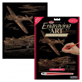 WWII Fighter Engraving Art Kit Standard - Royal Brush - Copper Foil 20.3x25.4cm (COPF25)