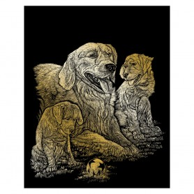 Golden Retriever Engraving Art Kit Standard - Royal Brush - Gold Foil 20.3x25.4cm (GOLF11)