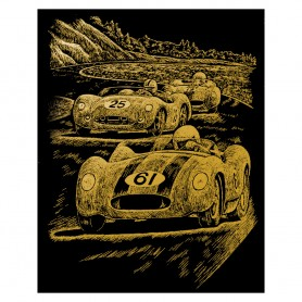 Nostalgic Race Cars Engraving Art Kit Standard - Royal Brush - Gold Foil 20.3x25.4cm (GOLF25)