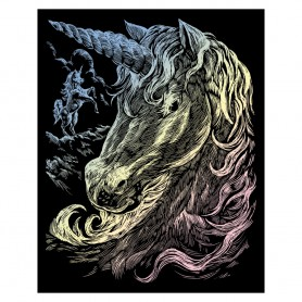 Unicorns Engraving Art Kit Standard - Royal Brush - Holographic Foil 20.3x25.4cm (HOLO11)