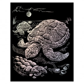 Sea Turtles Engraving Art Kit Standard - Royal Brush - Holographic Foil 20.3x25.4cm (HOLO13)
