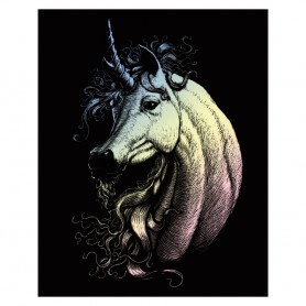 Proud Unicorn Engraving Art Kit Standard - Royal Brush - Holographic Foil 20.3x25.4cm (HOLO21)