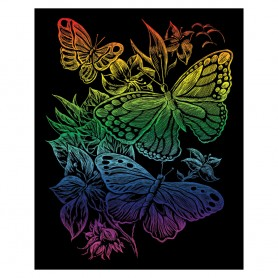 Butterflies Engraving Art Kit Standard - Royal Brush - Rainbow Foil 20.3x25.4cm (RAIN12)