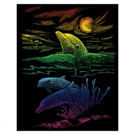 Dolphin Reef Engraving Art Kit Standard - Royal Brush - Rainbow Foil 20.3x25.4cm (RAIN25)