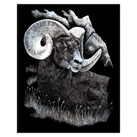 Longhorn Ram Engraving Art Kit Standard - Royal Brush - Silver Foil 20.3x25.4cm (SILF17)
